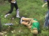 Fisherman Gets Beaten And Forced To Fuck Two Violent Girls In Jungle