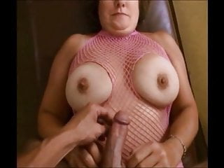 Breasted granny get cumshot on her tits