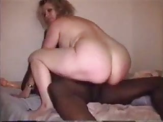 Wife riding black cock