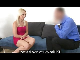 FAKEAGENT SHY BLONDE FUCKS AGENT FOR A MODEL CONTRACT