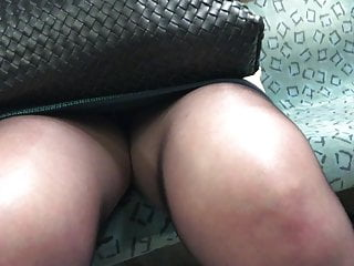 Pantyhose Legs in train 8